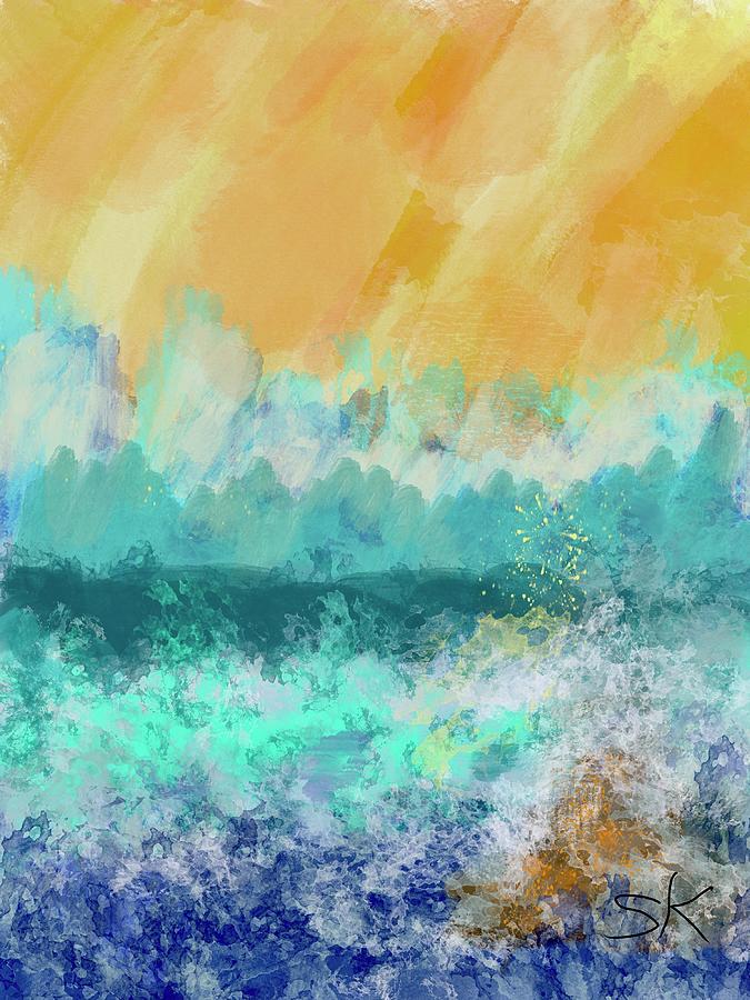 Seascape Sunny Sky by Sherry Killam