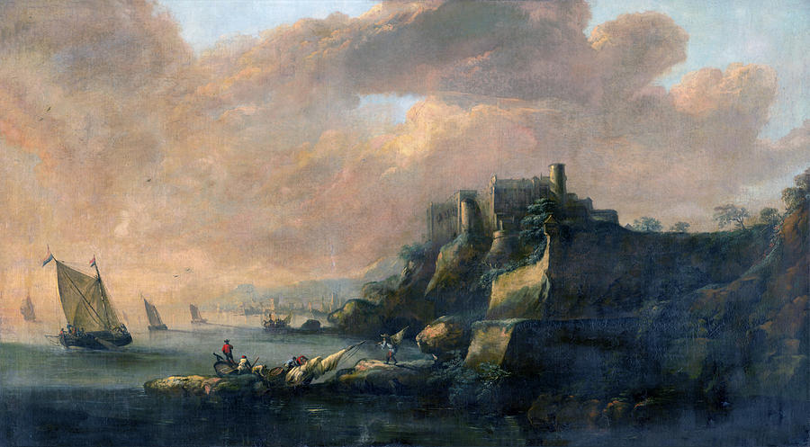 Seascape with a Castle by Artist anonymous