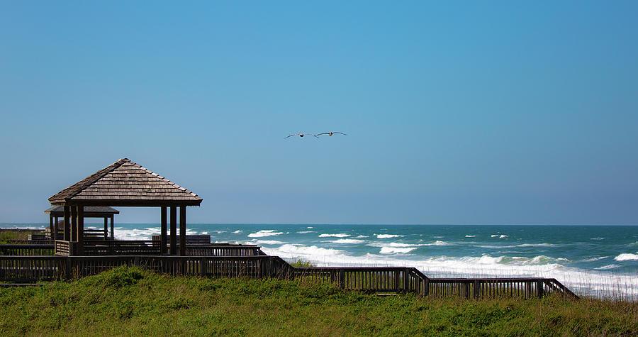 Seaside Gazebo by Lora J Wilson