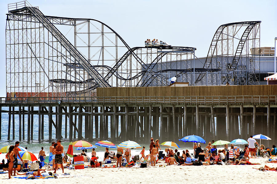 Seaside Heights Star Jet Roller Coaster Color 2006 by John Rizzuto