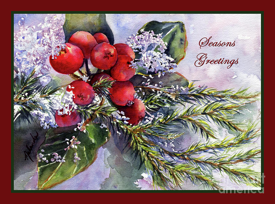 Seasons Greetings Ice Capped Berries by Malanda Warner