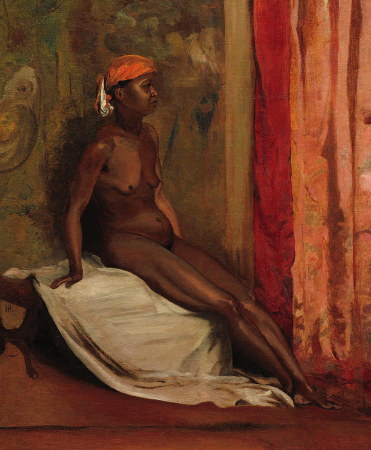Henri Regnault Painting - Seated African Woman, 1860 by Henri Regnault