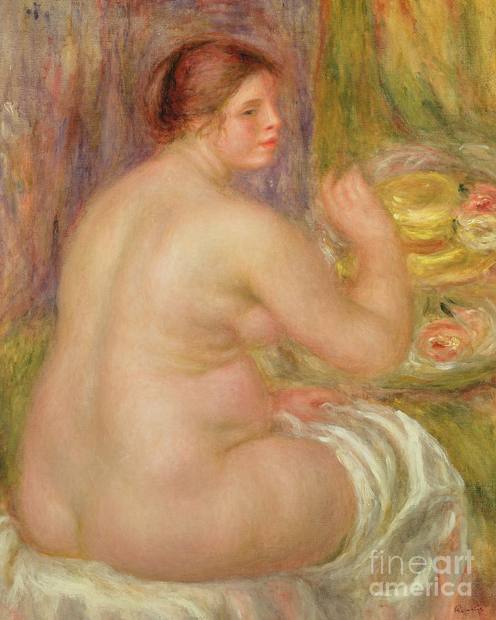 Seated Nude, the Pregnant Woman  by Pierre Auguste Renoir