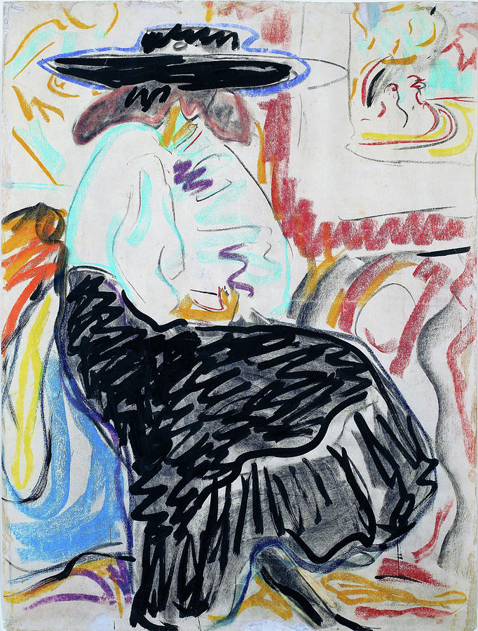 Ernst Ludwig Kirchner Painting - Seated Woman In The Studio - Digital Remastered Edition by Ernst Ludwig Kirchner