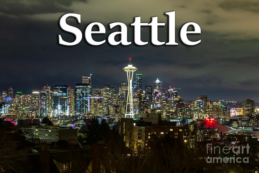 Seattle Photograph - Seattle At Night by G Matthew Laughton