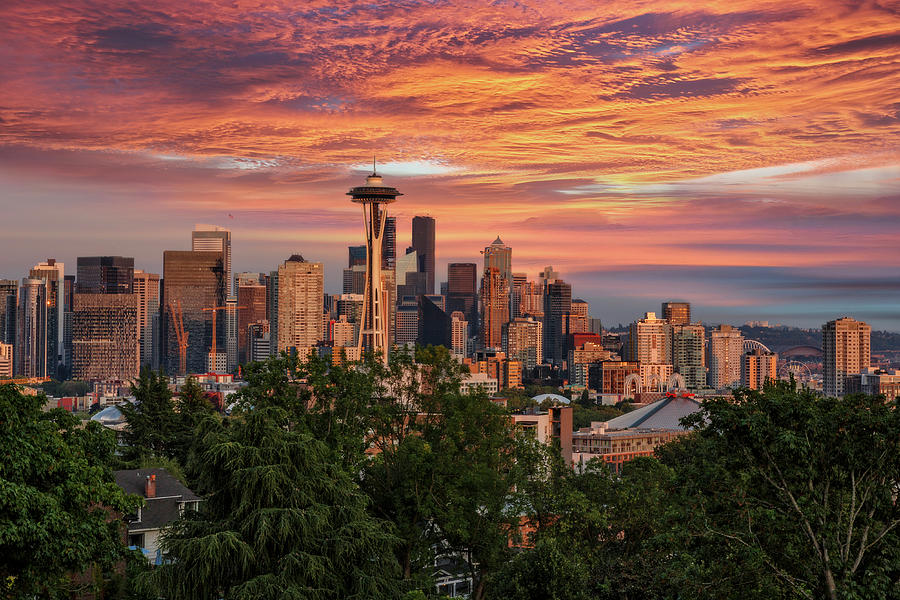 Seattle Glow Photograph
