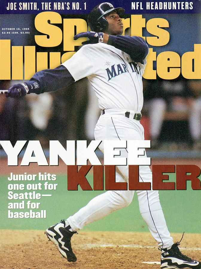 Seattle Mariners Ken Griffey Jr, 1995 Al Division Series Sports Illustrated Cover Photograph by Sports Illustrated
