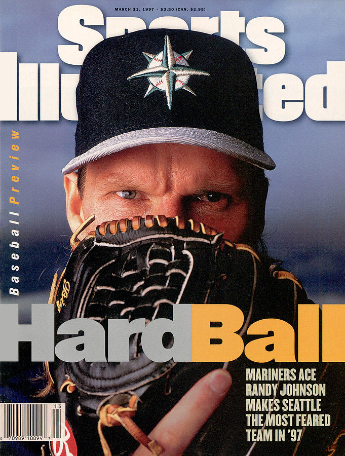 Seattle Mariners Randy Johnson, 1997 Mlb Baseball Preview Sports Illustrated Cover Photograph by Sports Illustrated