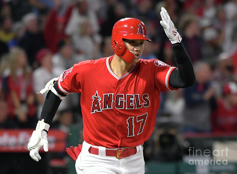 Seattle Mariners V Los Angeles Angels Photograph by John Mccoy