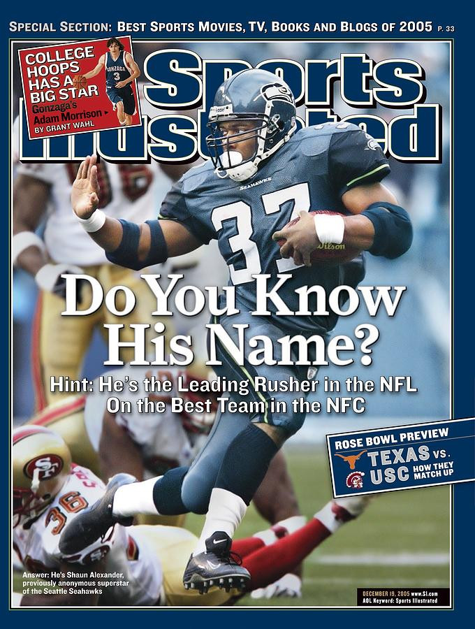 Seattle Seahawks Shaun Alexander... Sports Illustrated Cover Photograph by Sports Illustrated
