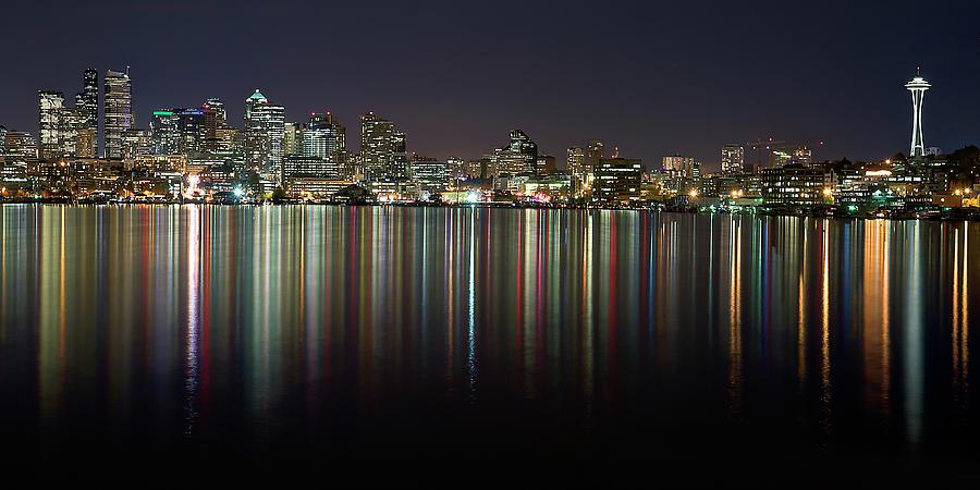 Seattle Skyline Reflected In Lake Union Photograph by Stephen Kacirek