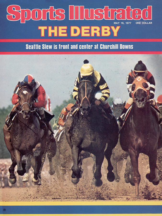 Seattle Slew, 1977 Kentucky Derby Sports Illustrated Cover Photograph by Sports Illustrated