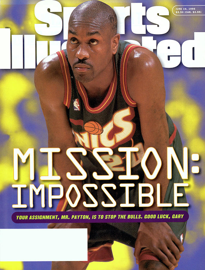 Seattle Supersonics Gary Payton, 1996 Nba Western Sports Illustrated Cover Photograph by Sports Illustrated