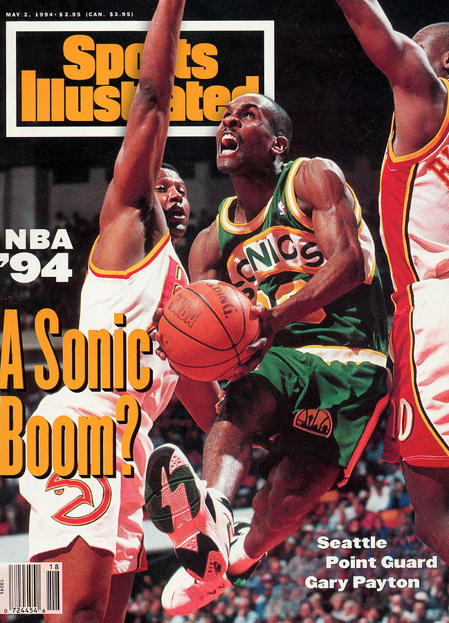 Seattle Supersonics Gary Payton... Sports Illustrated Cover Photograph by Sports Illustrated