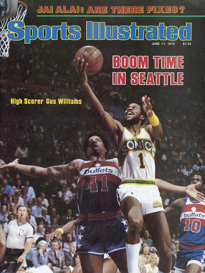 Seattle Supersonics Gus Williams, 1979 Nba Finals Sports Illustrated Cover Photograph by Sports Illustrated
