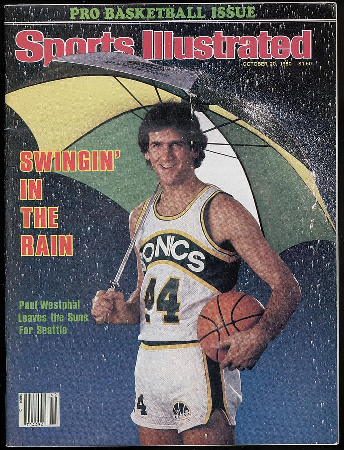 Seattle Supersonics Paul Westphal, 1980 Nba Baseball Preview Sports Illustrated Cover Photograph by Sports Illustrated