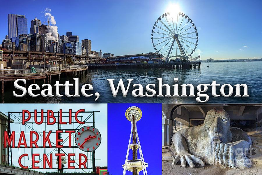 Seattle Photograph - Seattle Washington Waterfront 02 by G Matthew Laughton