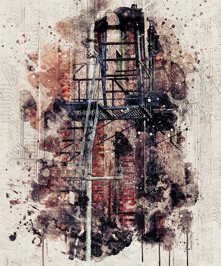 Fire Escape Abstract by Marilyn Wilson