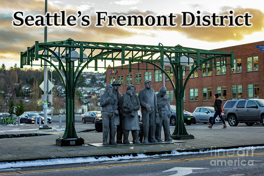 Waiting For The Interurban Photograph - Seattles Fremont District  by G Matthew Laughton