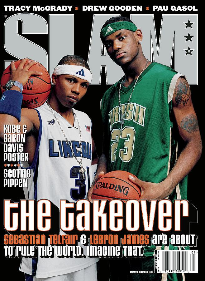 Sebastian Telfair & LeBron James: The Takeover SLAM Cover Photograph by Clay Patrick McBride