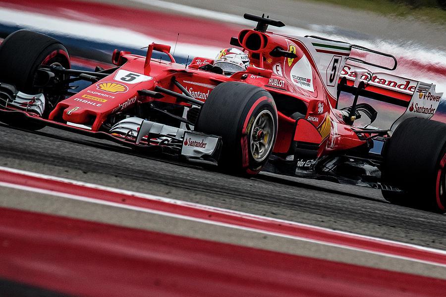 Sebastian Vettel, US Grand Prix 2017 by Dave Wilson