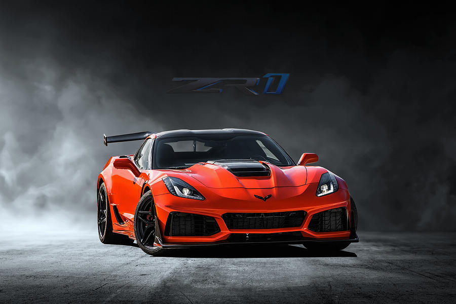 Chevrolet Digital Art - Sebring Orange by Peter Chilelli