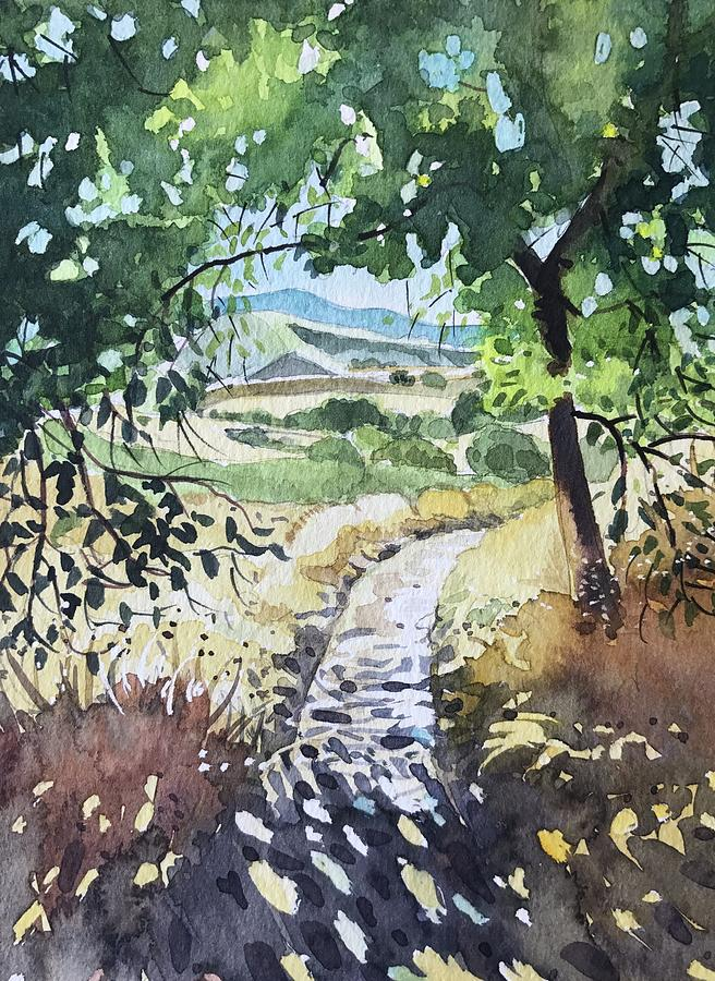 Secluded Path - Reagan Ranch Painting