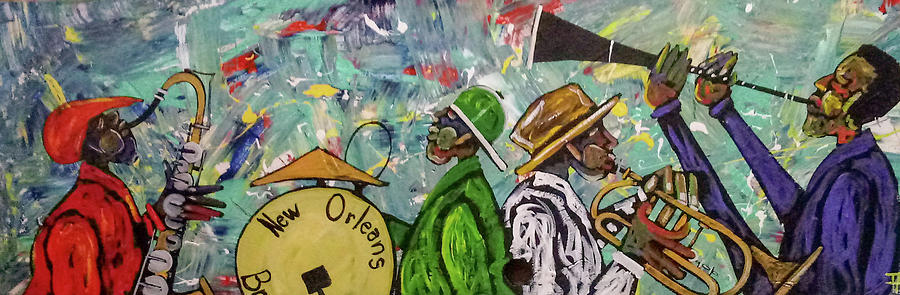 Jazz Painting - Second Line 13 by Guilbeaux Gallery