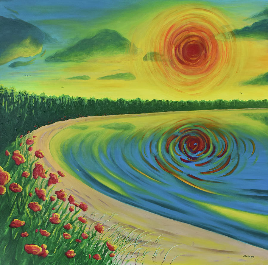 Secret Blackhole Sunset Beach by Michael Morgan