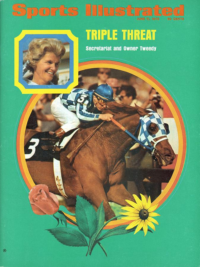 Secretariat, 1973 Preakness Stakes Sports Illustrated Cover Photograph by Sports Illustrated