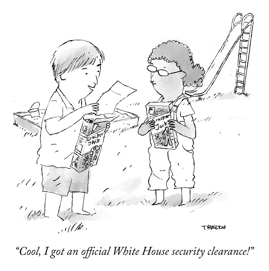 Security Clearance Drawing by Tim Hamilton