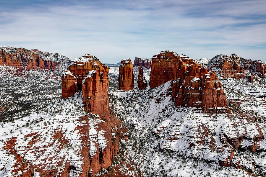 Sedona, AZ Snow by James Menzies