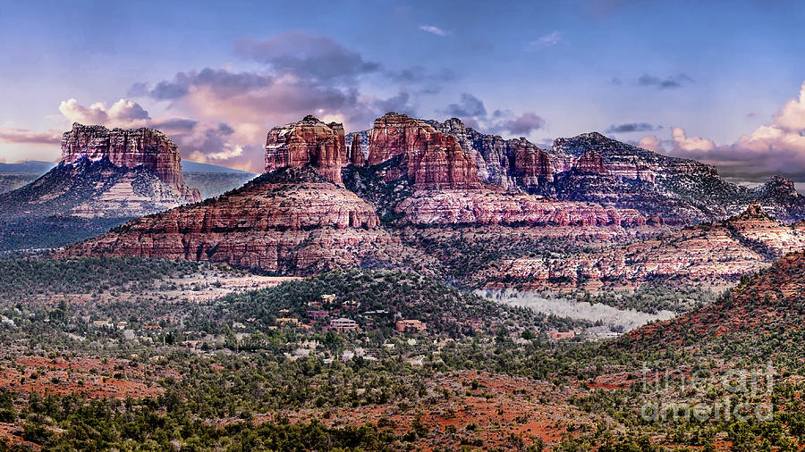 Sedona Buttes by David Meznarich