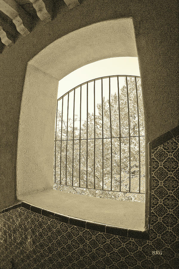 Window Photograph - Sedona Series - Through The Window by Ben and Raisa Gertsberg