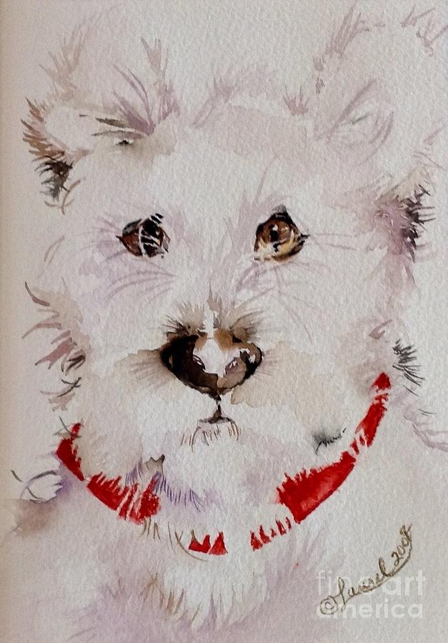 Animal Portrait Painting - See Me by Laurel Adams