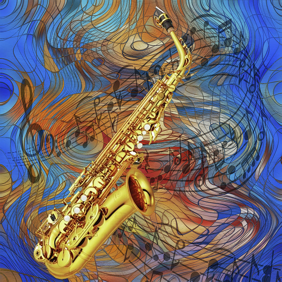 Saxophone Painting - See The Sound Series by Jack Zulli