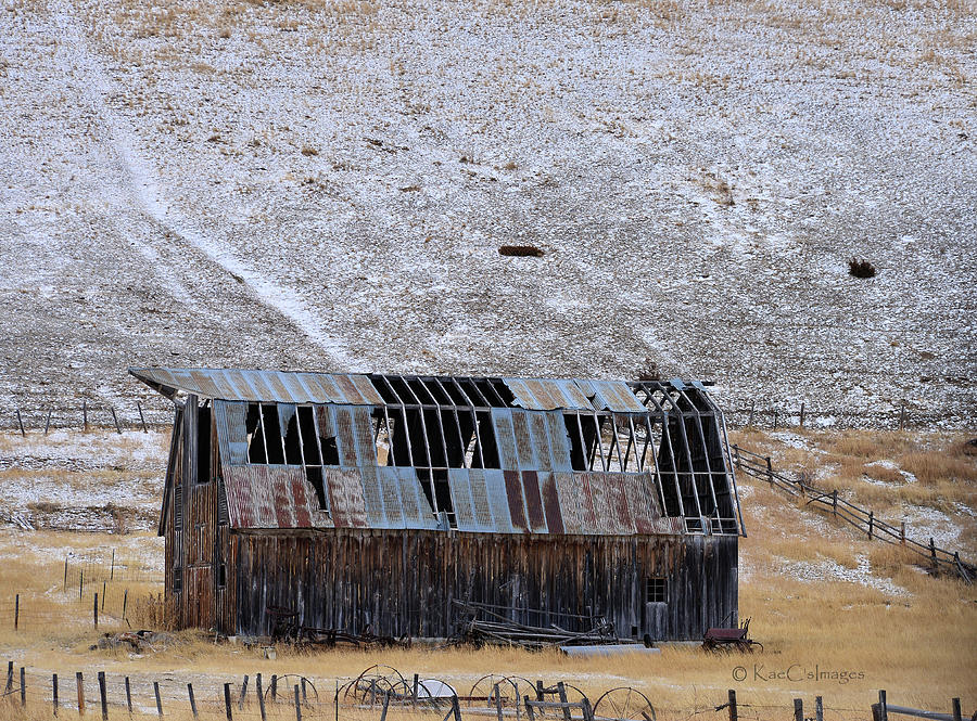 See Through Dilapidated Barn by Kae Cheatham