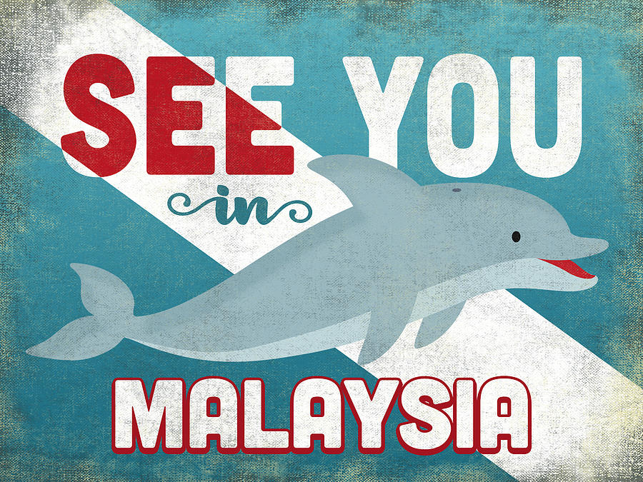 Malaysia Digital Art - See You In Malaysia Dolphin by Flo Karp