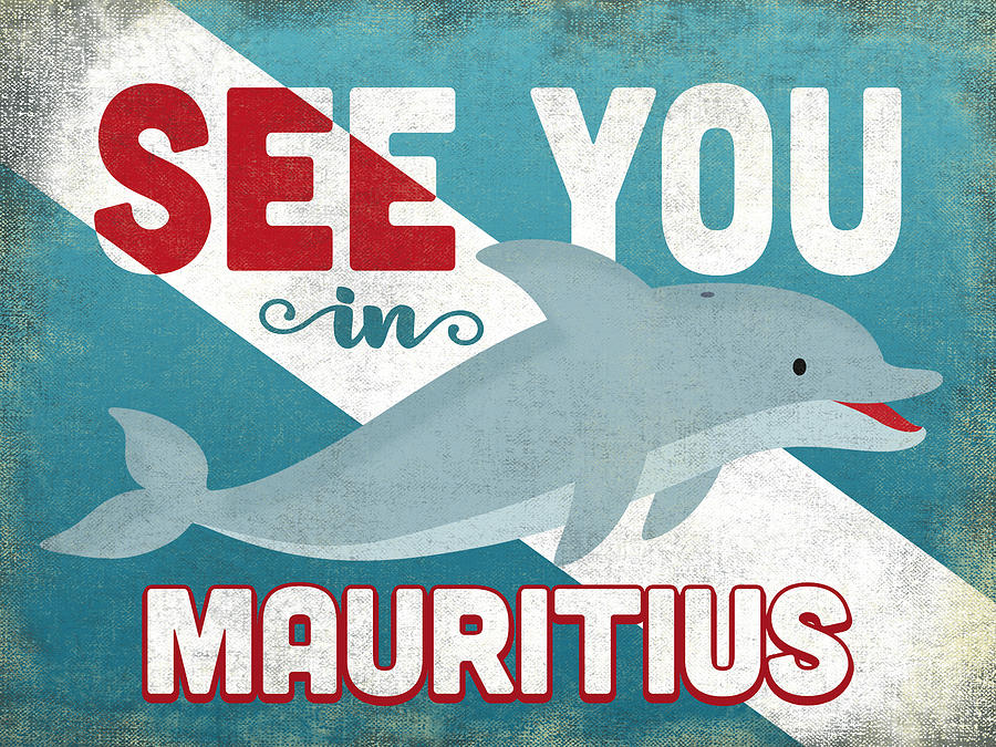 Mauritius Digital Art - See You In Mauritius Dolphin by Flo Karp