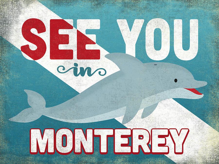 Monterey Digital Art - See You In Monterey Dolphin by Flo Karp