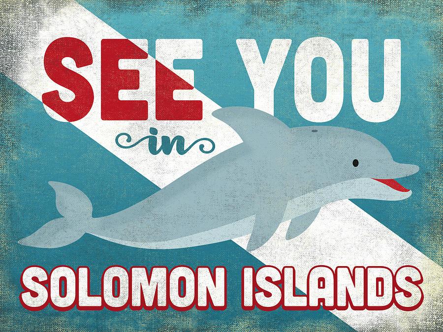 Solomon Islands Digital Art - See You In Solomon Islands Dolphin by Flo Karp