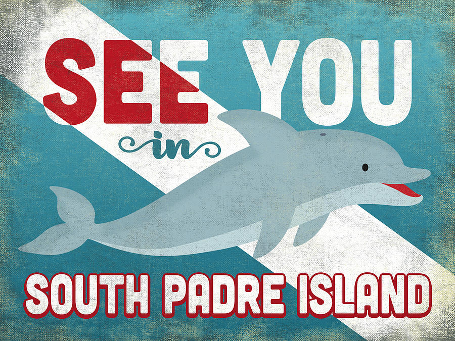 South Padre Island Digital Art - See You In South Padre Island Dolphin by Flo Karp