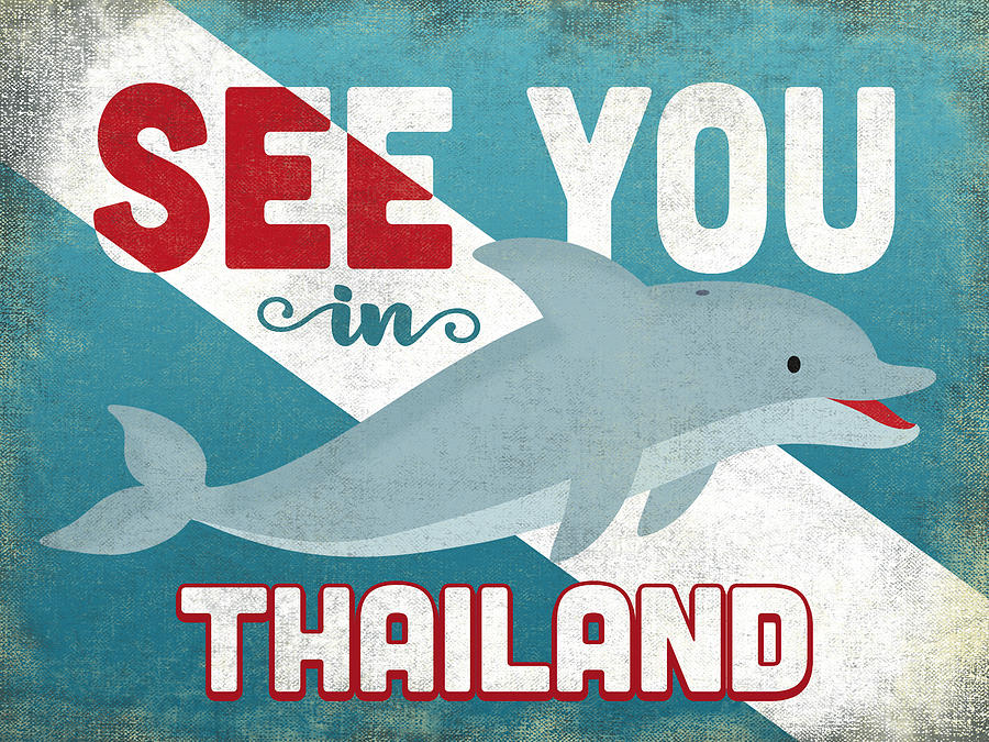 Thailand Digital Art - See You In Thailand Dolphin by Flo Karp