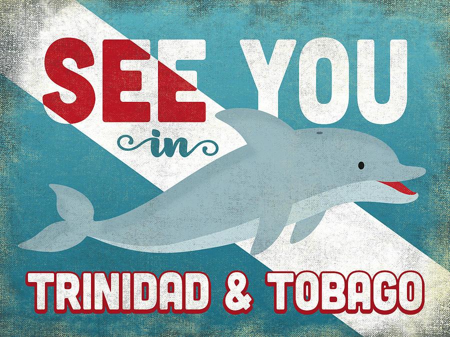Trinidad Tobago Digital Art - See You In Trinidad Tobago Dolphin by Flo Karp