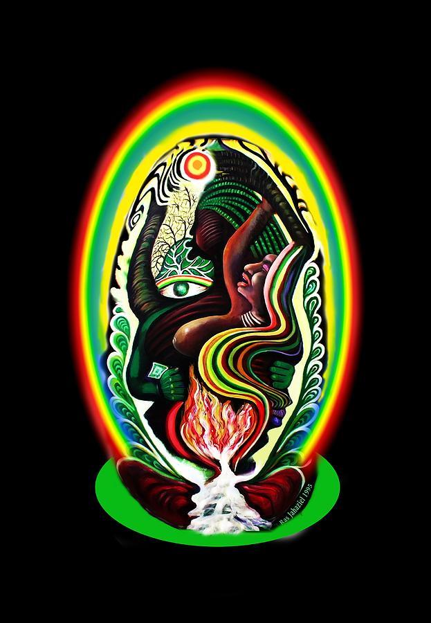 Rainbow Painting - Seed Of Life by Ras Tafari