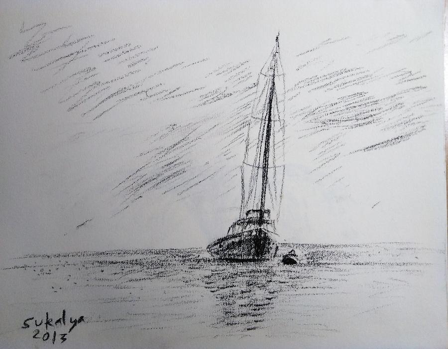 Seeing the ship by Sukalya Chearanantana
