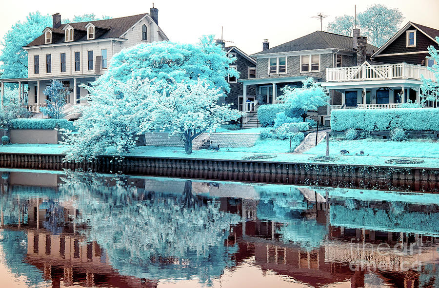 Lake Terrace Photograph - Seeing Blue At Ocean Grove Infrared by John Rizzuto