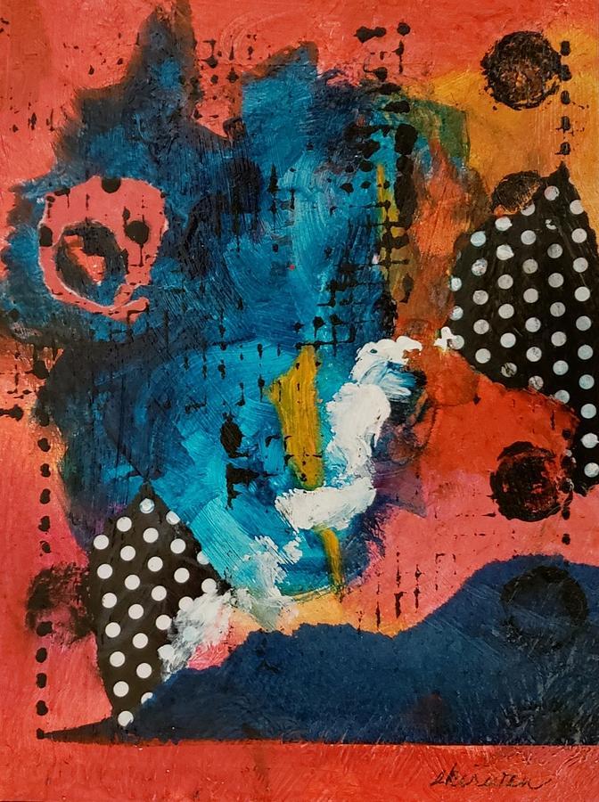Abstract Mixed Media - Seeing Spots by Ellen Kirwan