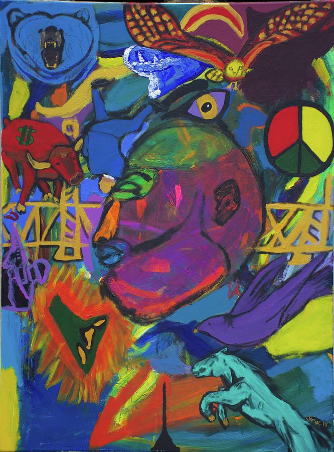 Seeking The Bridge  Painting by Sonye Locksmith