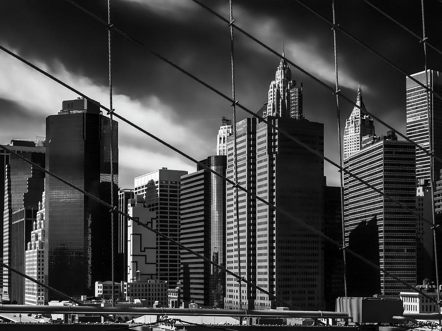 Architecture Photograph - Seen From Brooklyn Bridge by Benny Pettersson